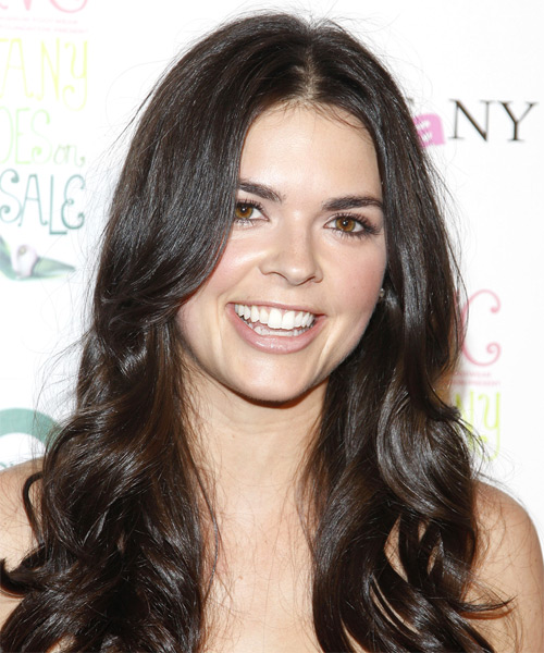 Katie Lee Long Wavy Hairstyle - Black - side view