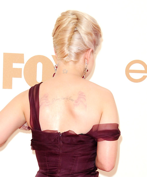 Kelly Osbourne Updo Long Straight Formal  - side view