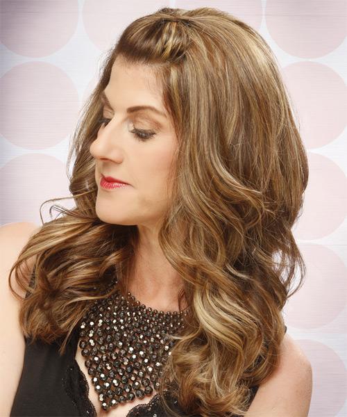 Amazing Half Up Curly Formal Hairstyle Light Brunette Caramel Short Hairstyles For Black Women Fulllsitofus