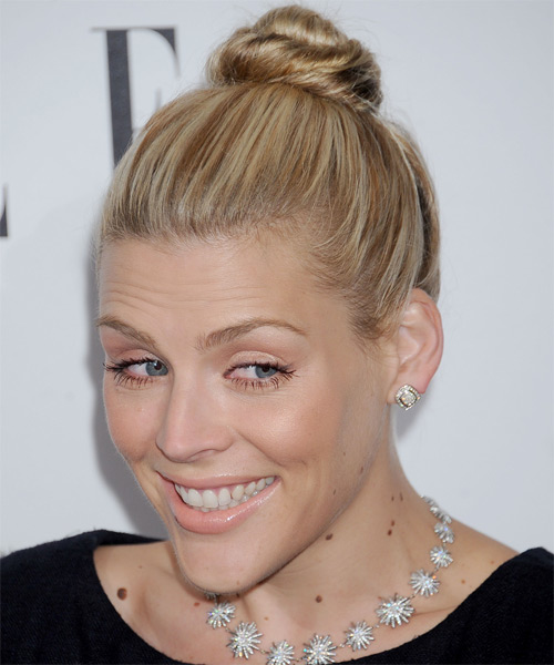 Busy Philipps Straight Casual Updo Hairstyle - Medium Blonde Hair Color - side view