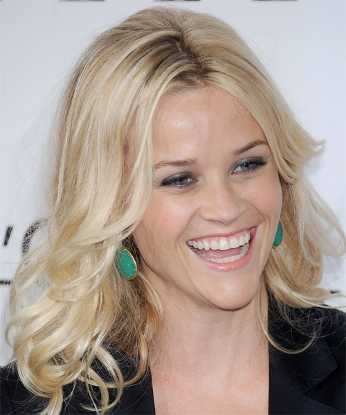 Reese Witherspoon Long Straight Hairstyle - Light Blonde - side view