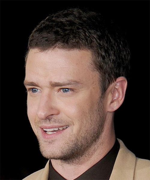 Justin Timberlake Short Straight Hairstyle - Medium Brunette (Ash) - side view 1