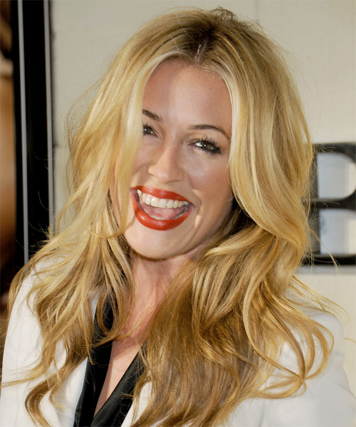 Cat Deeley Long Wavy Hairstyle - Medium Blonde (Golden) - side view