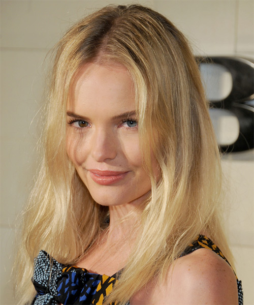 Kate Bosworth Long Straight Casual  - Medium Blonde (Golden) - side view