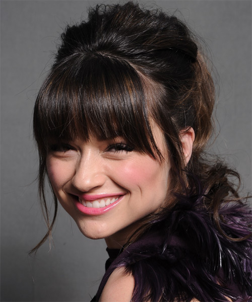 Crystal Reed - Formal Updo Long Straight Hairstyle - side view