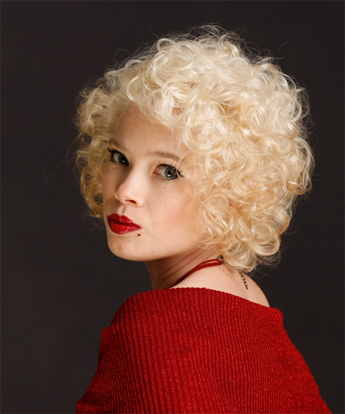 Strange Short Curly Formal Hairstyle Platinum Thehairstyler Com Hairstyle Inspiration Daily Dogsangcom