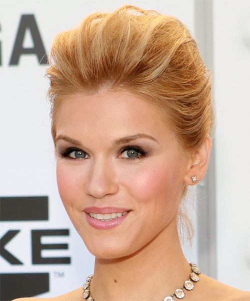 Emily Rose - Formal Updo Long Straight Hairstyle - side view