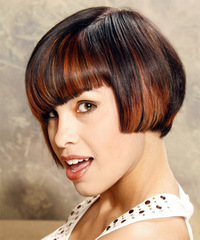 Alternative Medium Straight Hairstyle - click to view hairstyle information