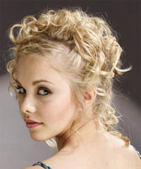 Formal Updo Long Curly Hairstyle - click to view hairstyle information