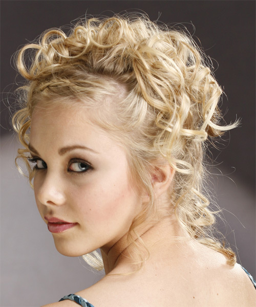 Awesome Updo Curly Formal Hairstyle Light Blonde Honey Thehairstyler Com Hairstyles For Women Draintrainus