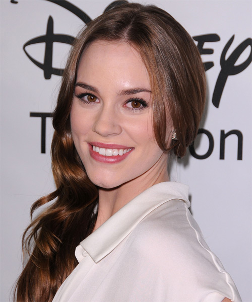 Christa B Allen Long Wavy Hairstyle - Medium Brunette - side view