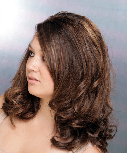 Long Wavy Formal  (Chocolate) - side view