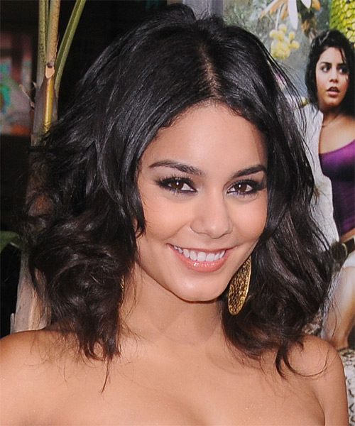 Vanessa Hudgens - Casual Medium Wavy Hairstyle - side view