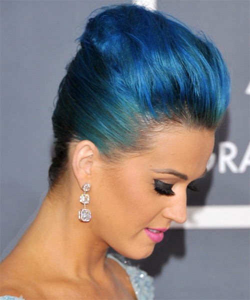 Katy Perry - Formal Updo Medium Straight Hairstyle - side view