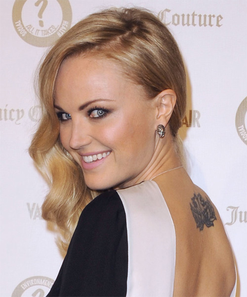 Malin Akerman Medium Wavy Hairstyle - Medium Blonde (Honey) - side view