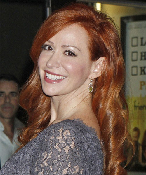 Rebecca Creskoff  Long Wavy Formal Hairstyle - Medium Red (Copper) Hair Color - side view