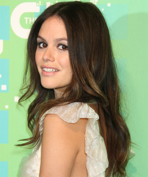 Rachel Bilson Long Straight Hairstyle - Medium Brunette (Caramel) - side view 1