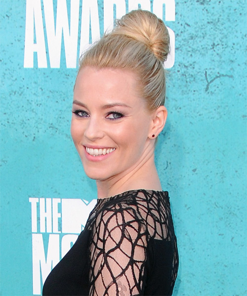 Elizabeth Banks Casual Straight Updo Hairstyle - Light Blonde - side view
