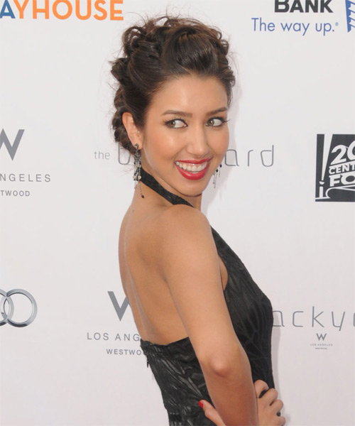 Renee Puente - Formal Updo Long Curly Hairstyle - side view