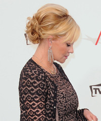 Melanie Griffith - Updo Long Curly - side view