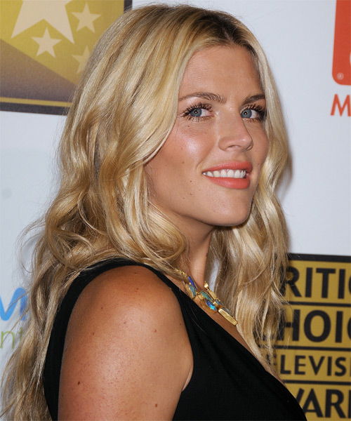 Busy Philipps Long Wavy Casual Hairstyle - Dark Blonde (Golden) Hair Color - side view