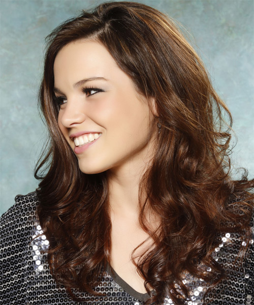 Long Wavy Casual Hairstyle - Medium Brunette (Chocolate) Hair Color - side view