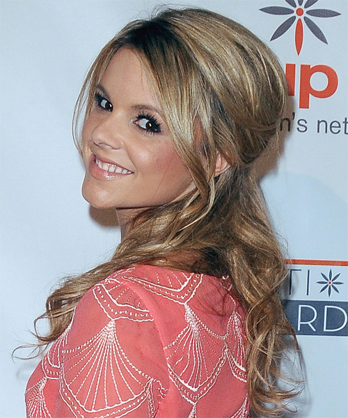 Ali Fedowtowsky - Casual Half Up Long Curly Hairstyle - side view