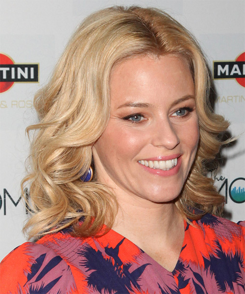 Elizabeth Banks Medium Wavy Hairstyle - Medium Blonde (Golden) - side view