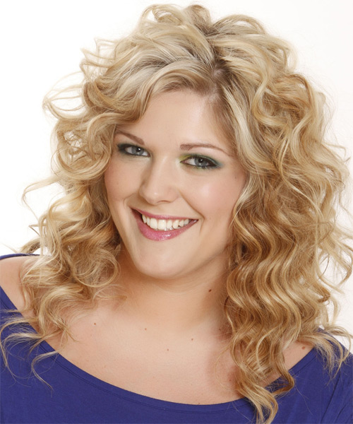 Long Wavy Casual Shag Hairstyle - Light Blonde (Champagne) - side view