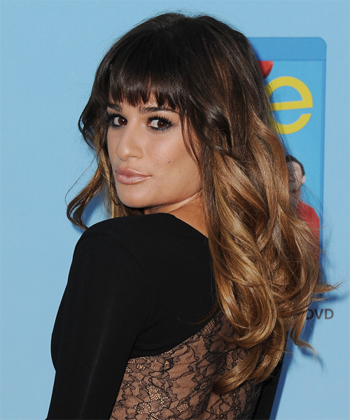 Lea Michele Long Straight Hairstyle - Medium Brunette - side view 1