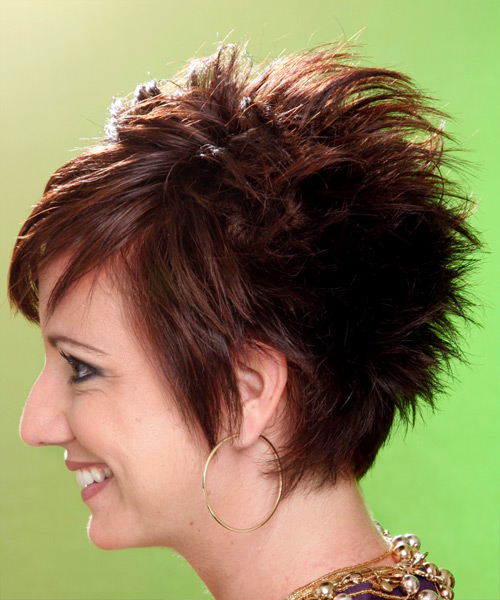 Short Straight Alternative Hairstyle (Chocolate) - side view 1