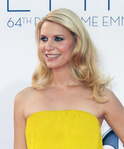 Claire Danes Long Straight Hairstyle - Medium Blonde (Golden) - side view 1