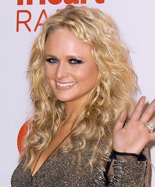 Miranda Lambert Long Curly Hairstyle - Medium Blonde (Golden) - side view