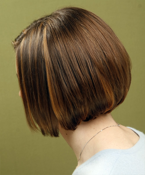 Medium Straight Casual Bob (Chestnut) - side view
