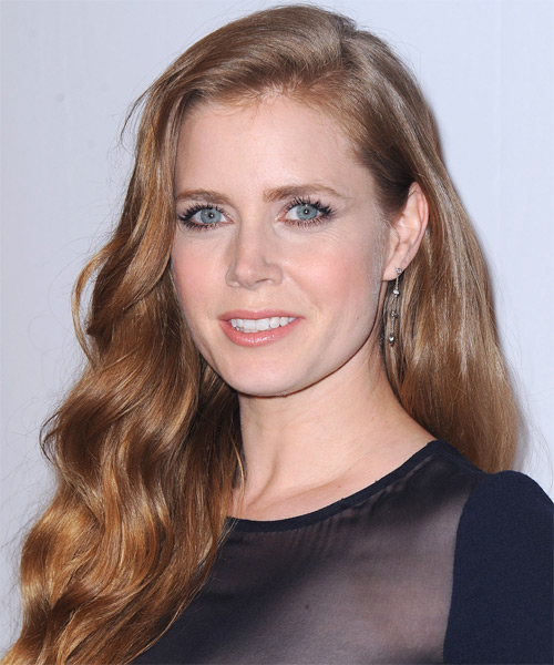 Amy Adams Long Wavy Casual Hairstyle - Medium Red (Strawberry) Hair Color - side view