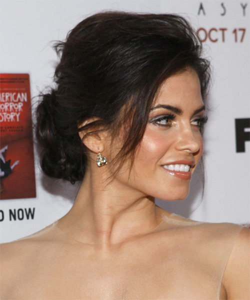 Jenna Dewan Straight Casual Updo Hairstyle - Medium Brunette Hair Color - side view