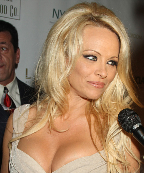 Pamela Anderson Long Straight Formal - side view
