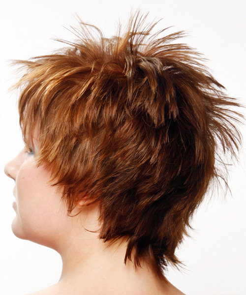 Short Straight Alternative Hairstyle (Auburn) - side view 1