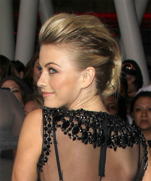 Julianne Hough - Casual Updo Long Straight Hairstyle - side view