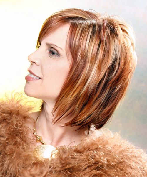 Medium Straight Formal Hairstyle - Medium Blonde (Copper) - side view 1