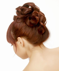 Formal Updo Long Straight Hairstyle - click to view hairstyle information