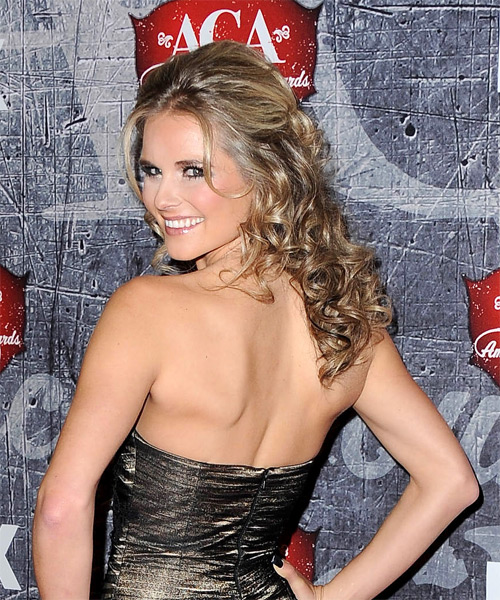 Kristy Lee Cook - Formal Half Up Long Curly Hairstyle - side view