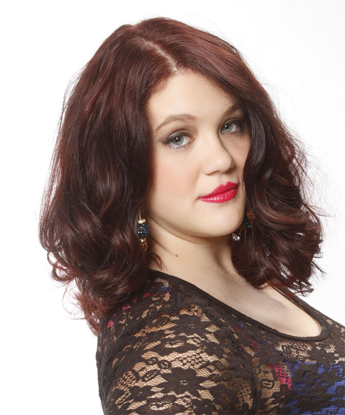 Medium Wavy Casual Hairstyle - Medium Red - side view 1