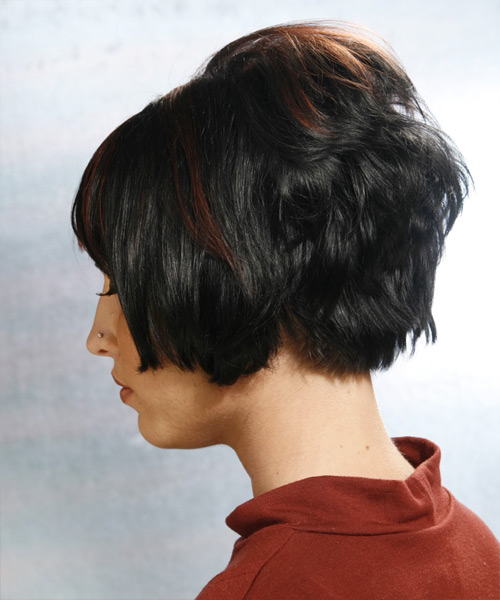 Short Straight Alternative Hairstyle - side view