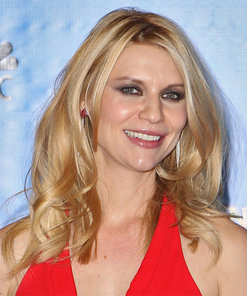 Claire Danes Long Straight Hairstyle - Medium Blonde (Golden) - side view
