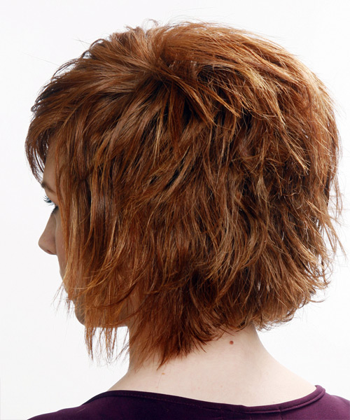 Medium Straight Casual Hairstyle (Auburn) - side view 1