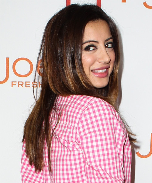 Noureen DeWulf Long Straight Hairstyle - side view 1