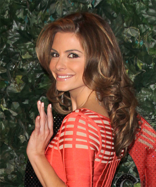 Maria Menounos Long Straight Formal Hairstyle - side view