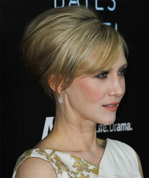 Vera Farmiga Updo Long Straight Formal Wedding- side view
