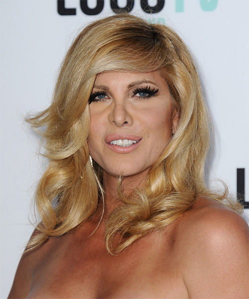 Candis Cayne Long Straight Hairstyle - Medium Blonde (Golden) - side view